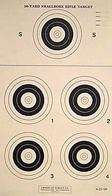 """RB-50-6-8 Official 50-Yd NMLRA Round Ball Rifle Target 50 17.5/"""" x 22/"""" on tag"""