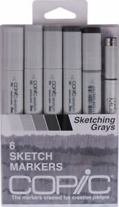 * * Copic Sketch Set of 6 Markers - Sketching Grays