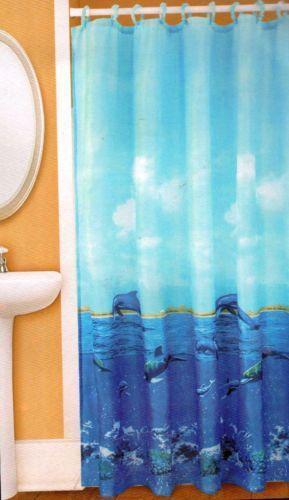 Beach Theme Bathroom Shower Curtains
