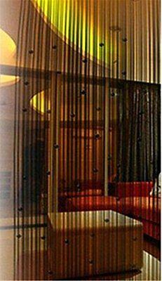 String Door Curtain Room Divider Window Panel Tassel Fringe Beads Decor Black