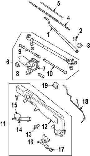 Nissan Washer Nozzle Windshield Wiper System Ebay