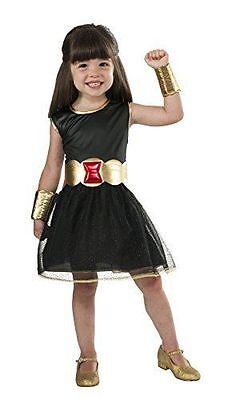 Marvel Halloween Black Widow Costume Tutu Dress, Childs Girls Medium Size 8-10  - Black Widow Girl Costume