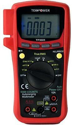 Tekpower Tp9605bt Auto Ranging Digital True Rms Smart Multimeter With Bluetooth