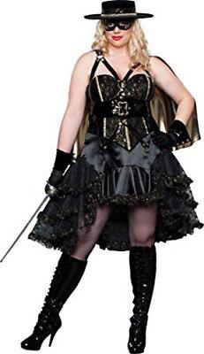 InCharacter Costumes Women's Bandita Plus Costume, Black/Gold, 1X