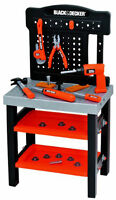 black & decker tool bench with toolbox,2shelves and small bench