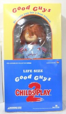 Medicom Toy Child Play 2 Good Guy Chucky Life Size Talking Doll Prop Replica