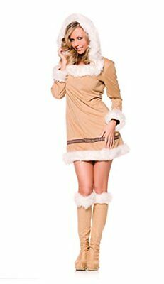 Eskimo Halloween Costume Womens XL 14-16 Winter Faux Suede Sexy & Cute - Cute Eskimo Halloween Costumes