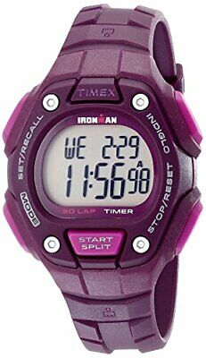 Timex Women's Ironman 30-Lap Digital Quartz Mid-Size Watch, Plum - TW5K89700