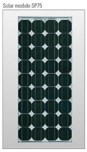 Shell 80 Watt polar panel with trickle charge