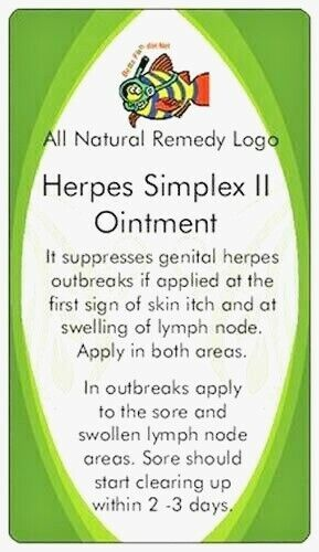 Herpes Simplex II Ointment helps stops outbreaks clearing up sores within 2 days