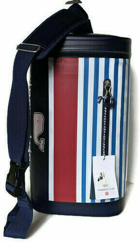 NEW Vineyard Vines Sling Portable 10 Can Cooler - Red White & Blue Stripes