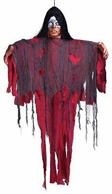 VOODOO WOMAN 6ft HANGING PROP JAMAICA BLACK MAGIC WITCH HALLOWEEN FANCY DRESS