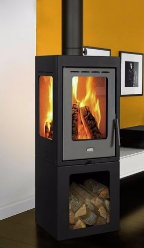 11kw WoodLog burning Stove Black Modern Panorama Front and Side Glassin St Austell, CornwallGumtree - I bought this for a new build project but never got around to installing it, hence never been used. Its a 11kw wood burning stove with panorama views via front and side glass panels making it have a very modern and contemporary look. Manufacturer...