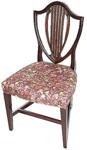 Georgian Mahogany Shield Back Chair, Antique Kingston Kingston Area image 9