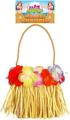 HAWAIIAN HULA BAG WITH FLOWERS LUAU TROPICAL PARTY FANCY DRESS (Hawaiian Luau Party Kostüm)