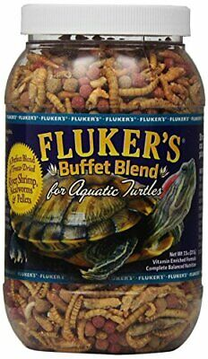Fluker's Buffet Blend Aquatic Turtle Food , 7.5-Ounce All Ages Best (Best Aquatic Turtle Food)