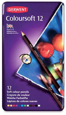 Derwent Coloursoft 12 Soft Color Pencils, Free Shipping