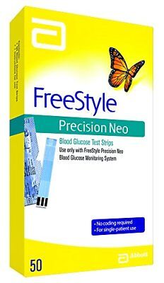 Freestyle Precision Neo Blood Glucose Test Strips 50 count Each