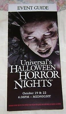 HTS 18 UNIVERSAL MAP EVENT GUIDE #3 (Halloween Horror Nights 18)
