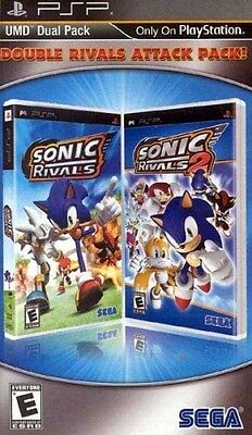 New PSP Sonic Rivals / Sonic Rivals 2 Double Rivals Attack Pack 2-in-1 Game PSP on Rummage