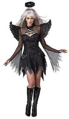 Erwachsene Damen Gefallener Engel Himmel Dunkel Emo Halloween - Himmel Engel Erwachsenen Kostüme
