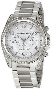 Good Condition Michael Kors Women's MK5165 Silver Blair Watch