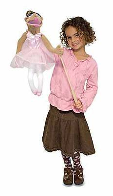 "BALLERINA HAND PUPPET # 3895 ~ 17"" Tall  ~ Very Detailed ~ Melissa & and Doug"