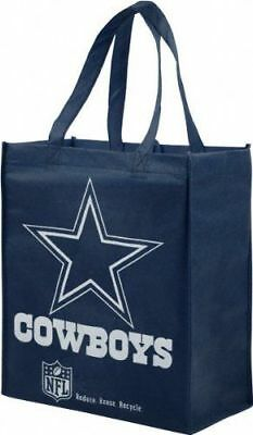 Forever Collectibles Nfl Dallas Cowboys Reusable Shopping Tote Bag New