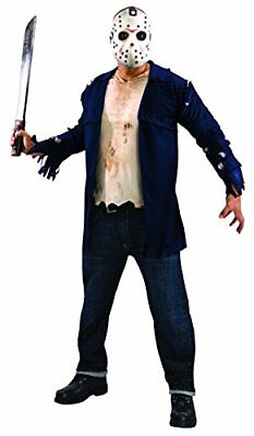 Rubie's Men's Friday the 13th Deluxe Jason Costume Shirt and Mask, - Black Friday Kostüm