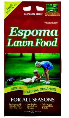 Espoma 20-Pound Organic All Season Lawn Food Fertilizer, New