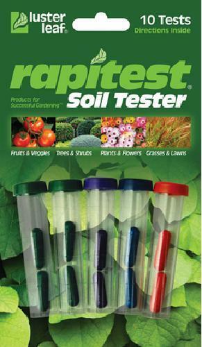 Rapitest Soil Tester 10 soil tests kit pH Nitrogen Phosphorus Potash Luster Leaf