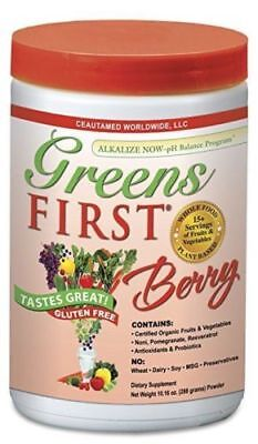 First Green - New Greens First Berry 30 Servings Gluten Free 10.16oz Certified Organic No MSG