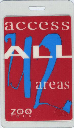 U2 1992 ZOO TV Laminated Backstage Pass All Access