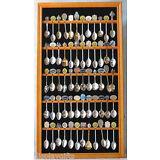 60 Spoon Display Case Rack Holder Cabinet, Wall Mountable, Glass Door, SP02-OA