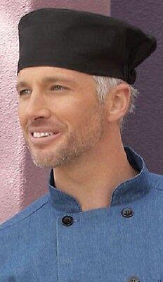 Beanie chef hat, Black, White, Chalkstripe or Houndstooth, 0156C