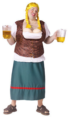 Mens Big & Tall Oktoberfest Bavarian Beer Girl Costume