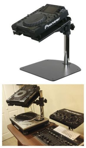Technics Turntable DJ Mixer CD Laptop Pioneer CDJ Universal Equipment Stand $399