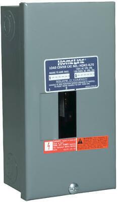 Square D 70 Amp Load Center Breaker Box 2 Spaces 4 Circuit Indoor Main Lug 07120