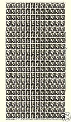 1840 GB ONE PENNY BLACK 'FULL-SHEET' REPRODUCTION
