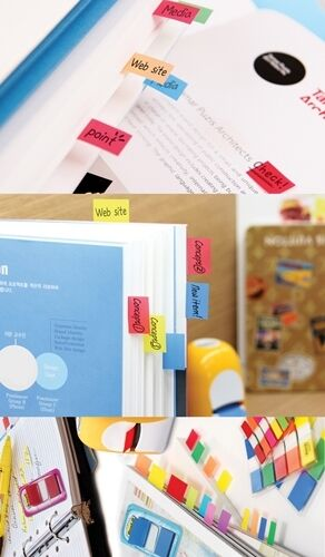 584-5 5 Colors Bookmark Point Sticky Note Plastic Paper Index 3M Post-it Flags