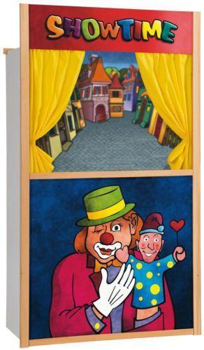 Kaufladen Holz Puppentheater ~ Kasperletheater Holz Spielzeug  eBay