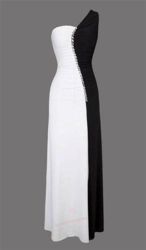 Formal Evening Gowns Black and White | eBay