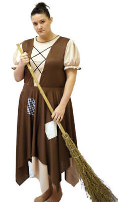 Panto/Stage Shows/Cinderella BROWN CINDERS RAGS Two layered skirt -PLUS SIZES