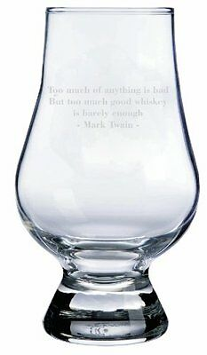 Note Twain Quote Glencairn Whisky Glass