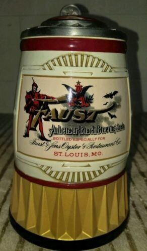 Anheuser-Busch FAUST STEIN Ceramic Collector Member 2007 Devil Bud CB43