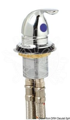 Osculati Chromed brass tap with Oval handle