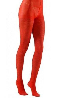 (Red Glitter Sparkle Tights Hosiery XL Plus Size Fancy Dress  (16-20) )