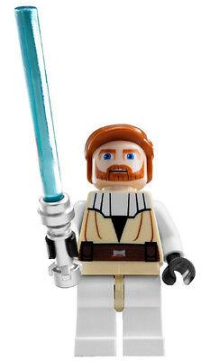 NEW LEGO STAR WARS OBI WAN KENOBI MINIFIG figure toy minifigure clone wars (Lego Obi Wan Kenobi)