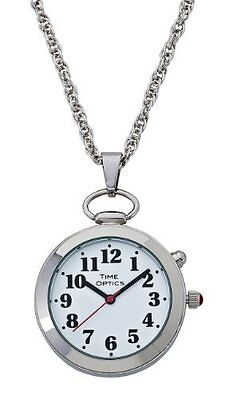 Timeoptics Women's Talking Silver-tone Pendant Day-date A...