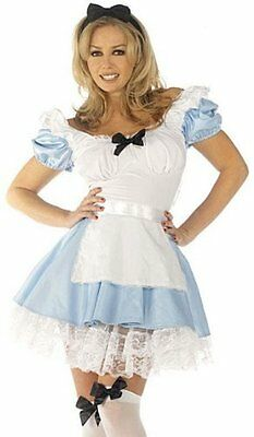 ANCY DRESS COSTUME LADIES ALICE IN WONDERLAND SEXY OUTFIT (Alice In Wonder Kostüme)